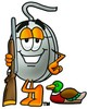 Computer Mouse Cartoon Character Duck Hunting clipart