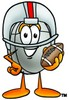 Computer Mouse Cartoon Character Playing Football clipart