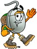 Computer Mouse Cartoon Character Hiking clipart