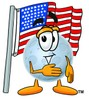 Moon Cartoon Character With an American Flag clipart