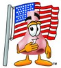 Cartoon Nose Character With American Flag clipart