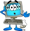 Cartoon Computer Character Confused clipart