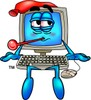 Sick Computer Cartoon Character clipart