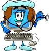 Cartoon Computer Character Nurse clipart