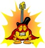 Cartoon Guitar Super Hero clipart
