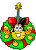 Cartoon Guitar Character clipart