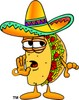 Cartoon Taco Character Whispering clipart