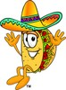 Cartoon Taco Character Jumping clipart