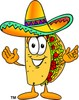 Cartoon Taco Character Welcoming People clipart