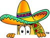 Cartoon Taco Character Peeking Over Something clipart
