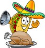 Cartoon Taco Character on Thanksgiving clipart