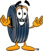 Cartoon Tire Character clipart