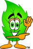 Cartoon Green Leaf Character clipart