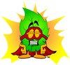 Cartoon Leaf Super Hero clipart