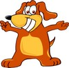 Cartoon Pet Dog With Arms Open clipart