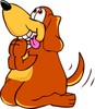 Cartoon Pet Dog Begging clipart