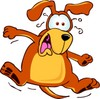 Cartoon Pet Dog Shocked and Scared clipart