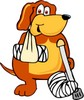 Cartoon Pet Dog Injured clipart
