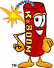 Cartoon Fire Cracker or Stick of Dynamite clipart