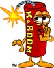 Cartoon Fire Cracker or Stick of Dynamite Whispering a Secret or Tip clipart