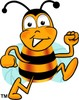 Cartoon Bumble Bee or Honey Bee Running clipart