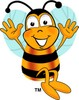 Cartoon Bumble Bee or Honey Bee Jumping clipart