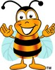 Cartoon Bumble Bee or Honey Bee clipart
