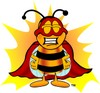 Super Hero Bumble Bee or Honey Bee clipart