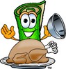 Carpet Cartoon Character With Thanksgiving Turkey Dinner clipart