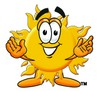 Cartoon Sun Character Welcoming clipart