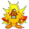 Cartoon Sun Super Hero clipart