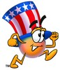 Uncle Sam Character Running clipart