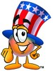 Uncle Sam Character Pointing Forward clipart