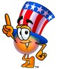Uncle Sam Character Pointing Up clipart
