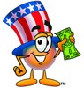Uncle Sam Characterr Holding Money clipart