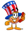 Uncle Sam Character Holding A Phone clipart