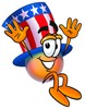 Uncle Sam Character Jumping clipart