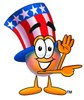 Uncle Sam Character Pointing To The Side clipart