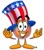 Uncle Sam Character Welcoming clipart
