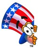 Uncle Sam Character Peeking Around Something clipart