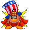 Uncle Sam Character Super Hero clipart