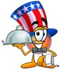Uncle Sam Character Serving Food clipart