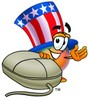 Uncle Sam Character With A Computer Mouse clipart