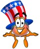 Uncle Sam Character Sitting clipart