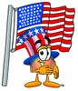 Uncle Sam Character With American Flag clipart