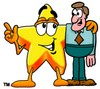 Cartoon Star Character With a Man clipart
