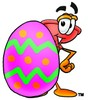 Cartoon Plunger With an Easter Egg clipart