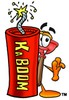 Cartoon Plunger With a Firecracker clipart