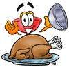 Cartoon Plunger With a Thanksgiving Day Turkey clipart
