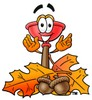 Cartoon Plunger With Autumn Leaves clipart